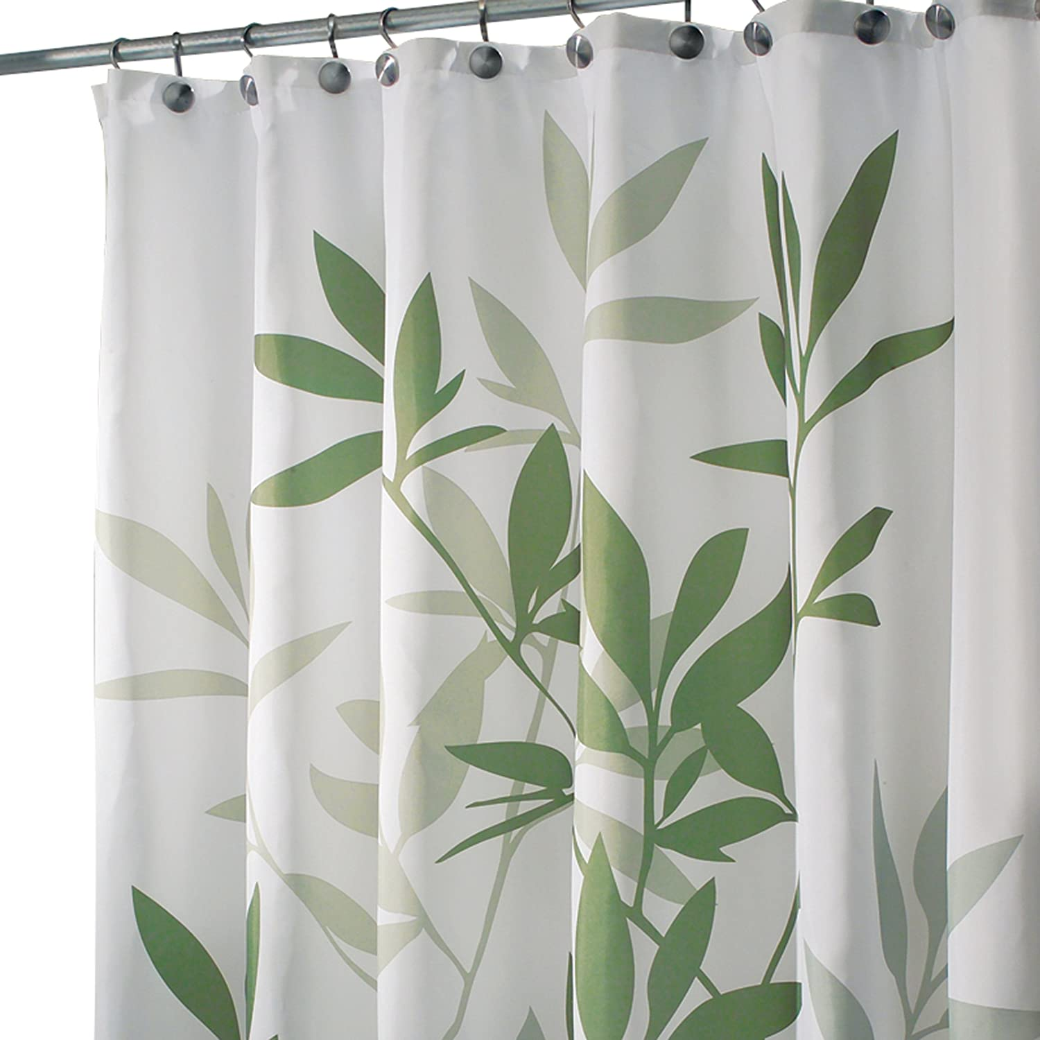 InterDesign Leaves Long Shower Curtain Green 72Inch by 84Inch  New Free Sh  eBay