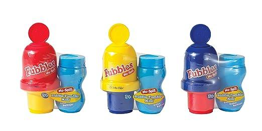 Little Kids Fubbles No-Spill Mini Bubble Tumbler (3 Pack)