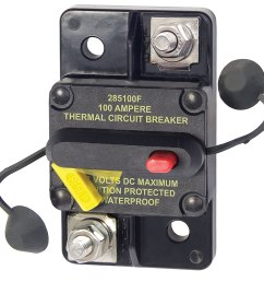 amazon com blue sea systems 285 series surface mount 100a circuit breaker sports outdoors [ 1500 x 1420 Pixel ]