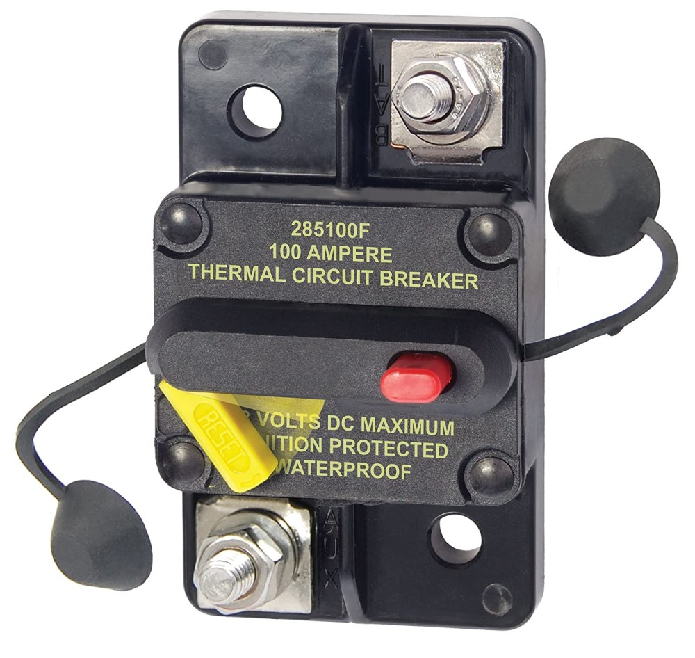 medium resolution of amazon com blue sea systems 285 series surface mount 100a circuit breaker sports outdoors