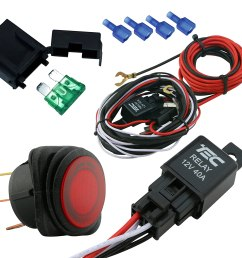 lamphus cruizer off road atv jeep led light bar wiring harness 40 amp relay on off switch  [ 1500 x 1500 Pixel ]