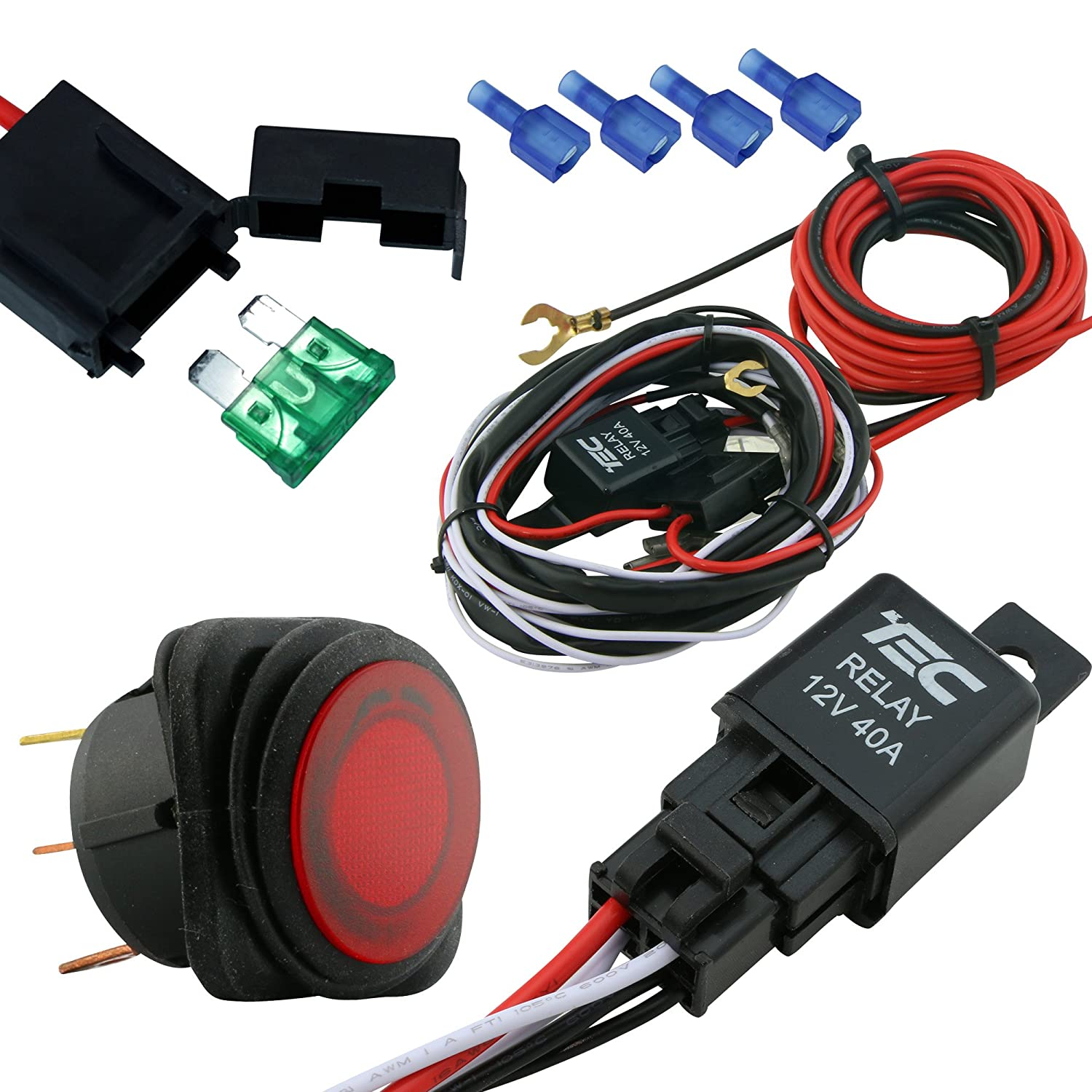 hight resolution of lamphus cruizer off road atv jeep led light bar wiring harness 40 amp relay on off switch