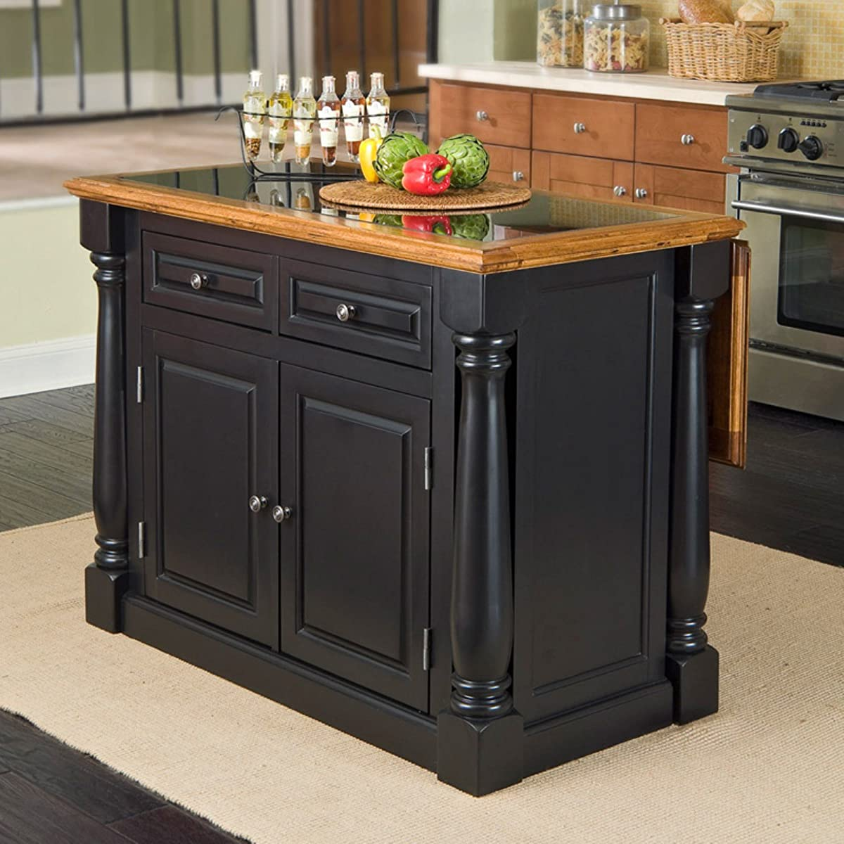 monarch kitchen island rv faucets home styles slide out leg with