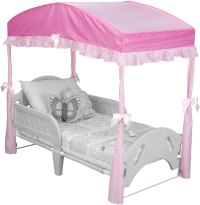 Girls Toddler Bed Canopy Pink Bedroom Princess Furniture ...