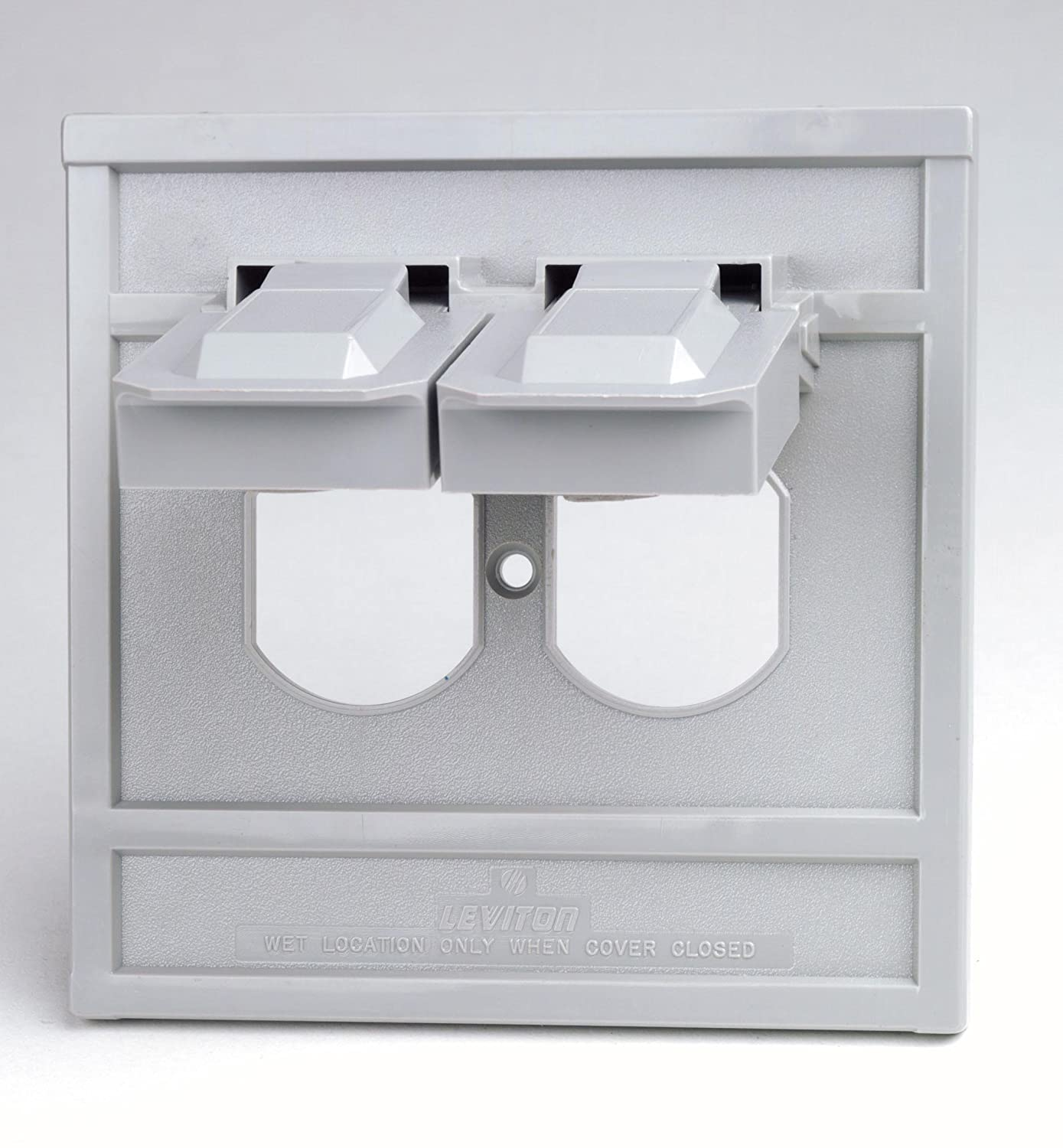 Leviton Gy 1 Gang Duplex Device Wallplate Cover