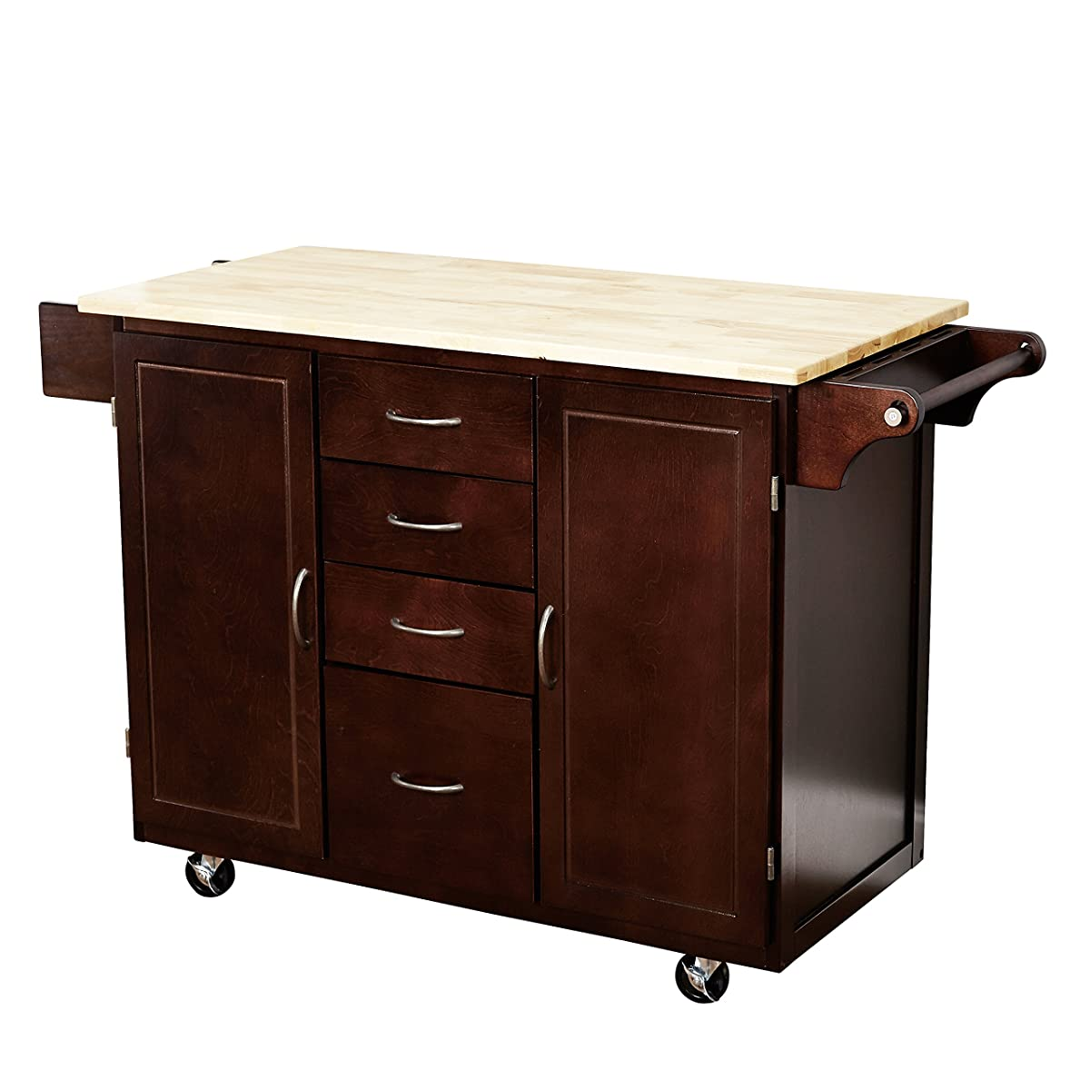 kitchen island cart target islands with stools marketing systems two toned country cottage rolling