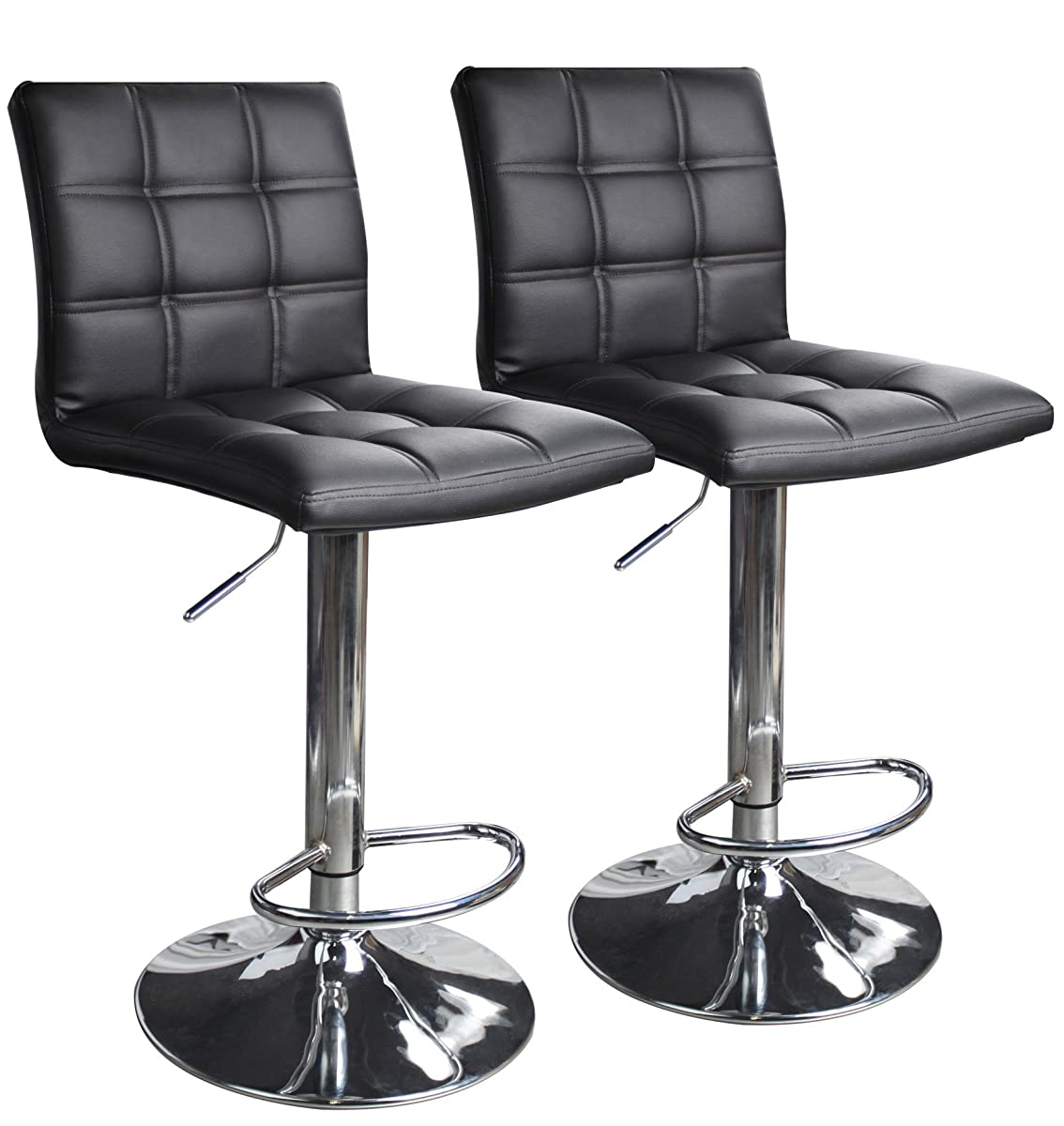 swivel bar chairs blue velvet arm modern square leather adjustable stools with back set