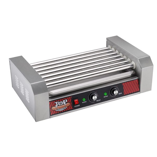 Professional Commercial 18 Hot Dog 7 Roller Grilling Machine Stainless Steel