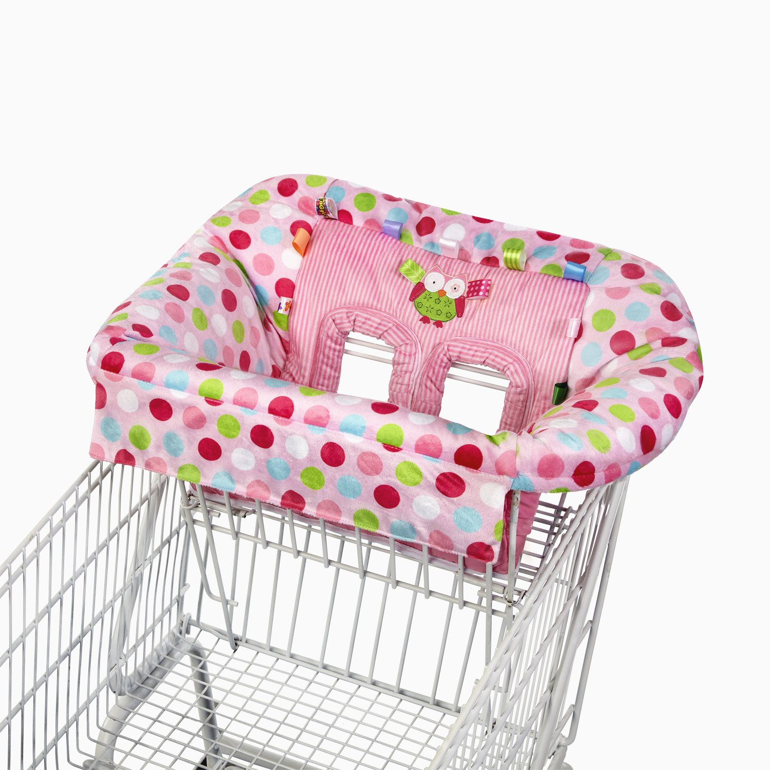 Owl High Chair Taggies Cozy Deluxe Pink Owl Polka Dot Travel Shopping