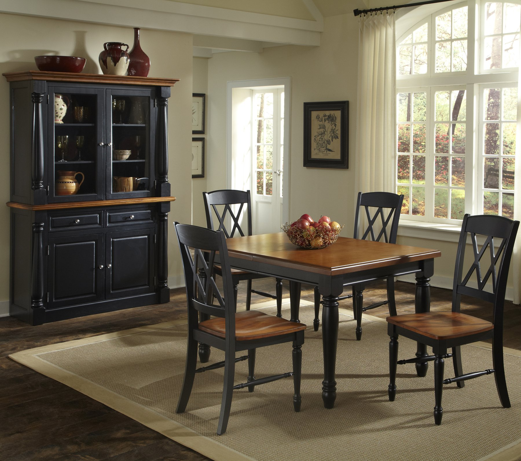 monarch double x back dining chairs revolving chair on gem home styles 5008 308 rectangular table and