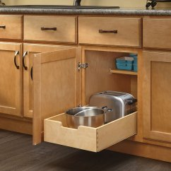 Kitchen Base Cabinet Pull Outs Custom Built Cabinets Rev A Shelf 4wdb 15 Medium Wood Out