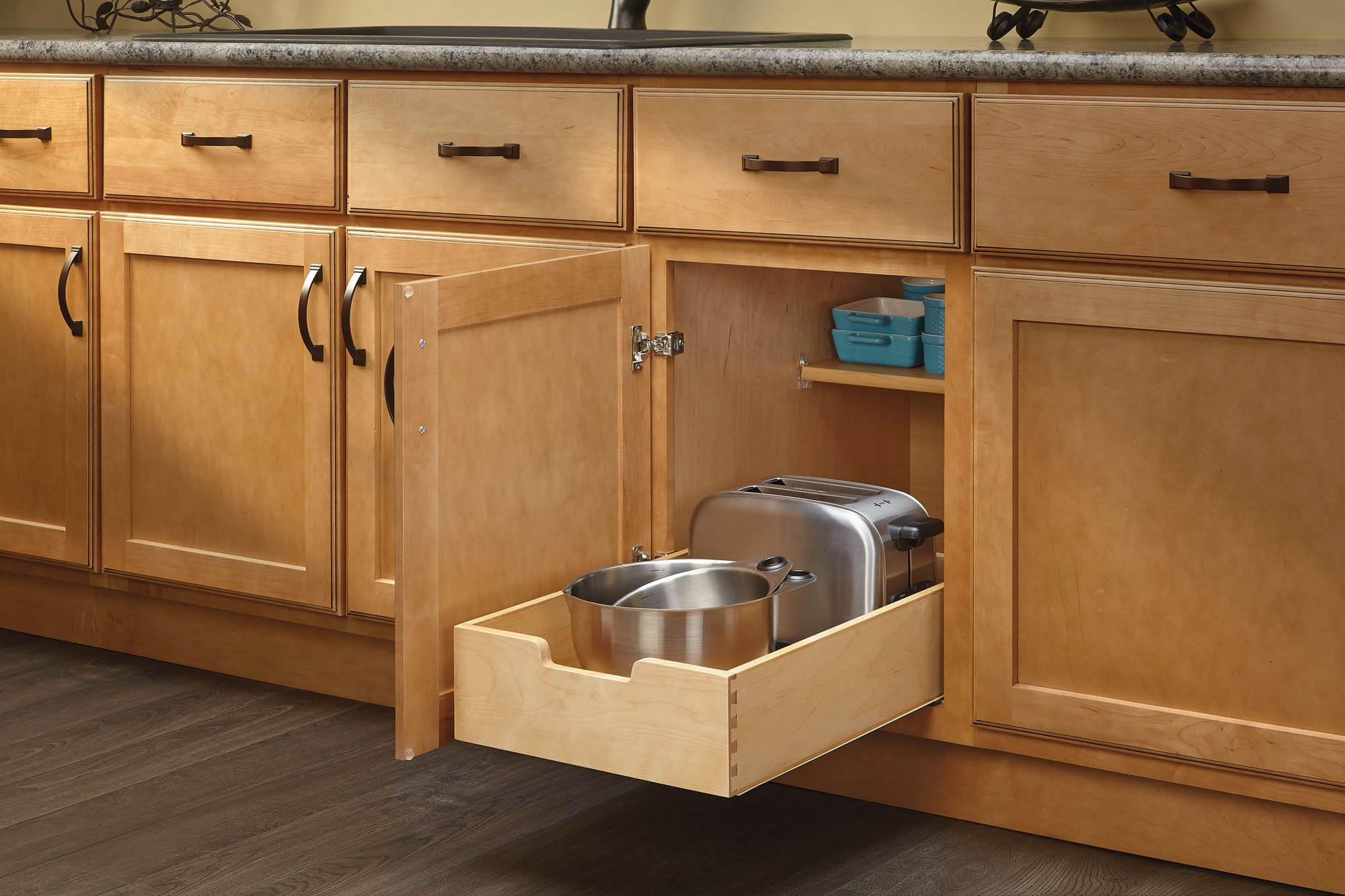 kitchen base cabinet pull outs coffee decor for rev a shelf 4wdb 15 medium wood out