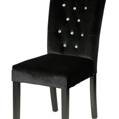 Black Tufted Dining Chair Retro Lounge Chairs Uk Cortesi Home Cleopatra Faux Crystal Velvet