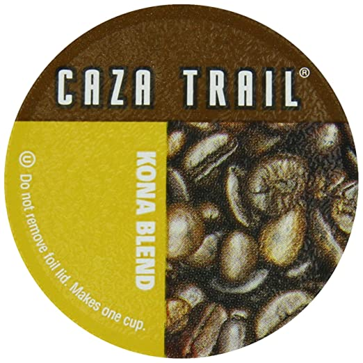 Caza Trail Single Serve Cup for Keurig K-cup Brewers, Kona Blend, 56 Count