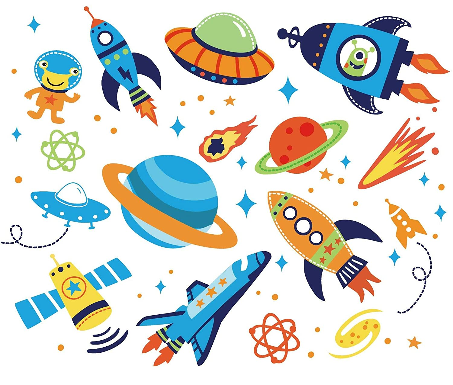 Outer Space Kids Room Peel & Stick Wall Decals