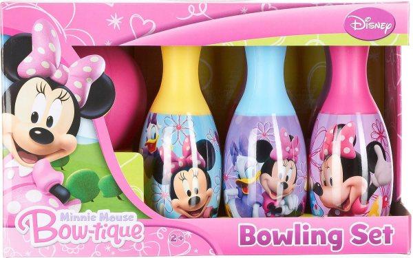 Disney Little Girls' Minnie Mouse Bow Tique Bowling Set