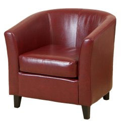Red Club Chair Folding Chairs Cheap Petaluma Leather Furniturendecor