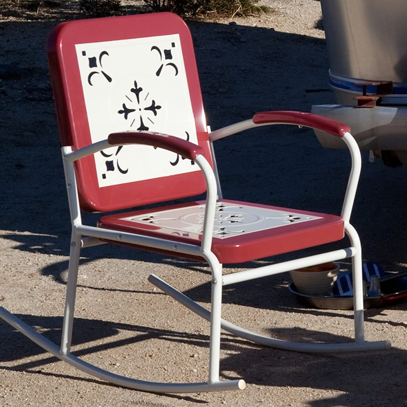 old fashioned metal lawn chairs wheelchair travel coral coast paradise cove retro rocker