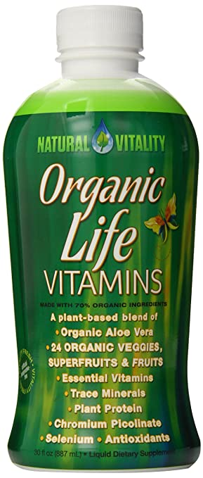 Natural Vitality Organic Life Vitamins, Raspberry Cranberry, 30 FL. OZ