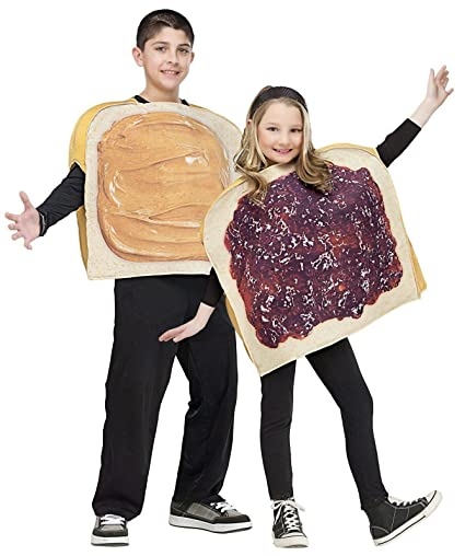 Little Boys' Peanut Butter and Jelly Costume Standard (Up to 14)