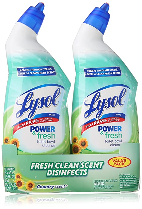 Lysol Cling Gel Toilet Bowl Cleaner, Country Scent,Twin Pack, 24 Fluid Ounce each, 2 Count