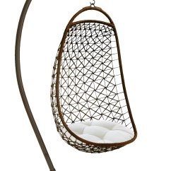 Hanging Chair Metal Best Office For 12 Hours 84 Inches High By Benzara