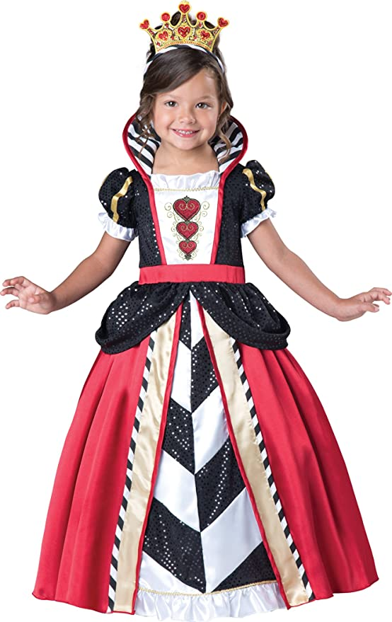 InCharacter Costumes Toddler Queen Of Hearts Costume, Black/Red, Medium