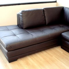 2 Piece Brown Leather Sofa Black Corner Sofas Cheap Baxton Studio Abriana Dark