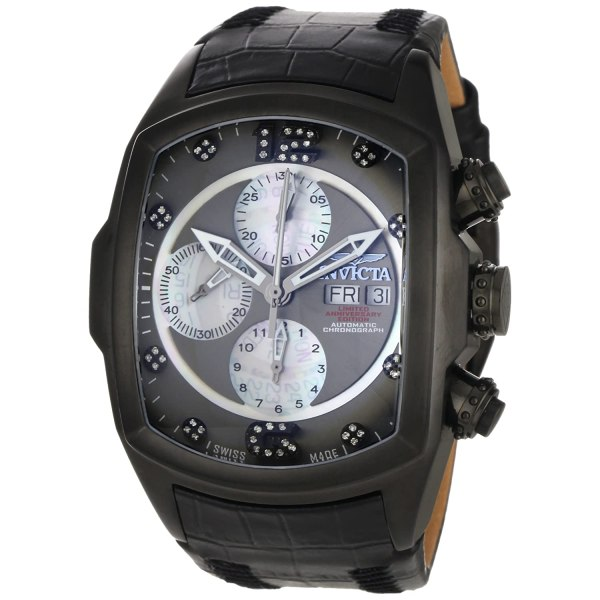 Invicta Mens 0513 Lupah Automatic Chrono Diamond Watch