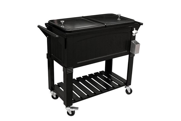 Rolling Ice Chest Cooler T 80 Qt Ailgate Party Patio