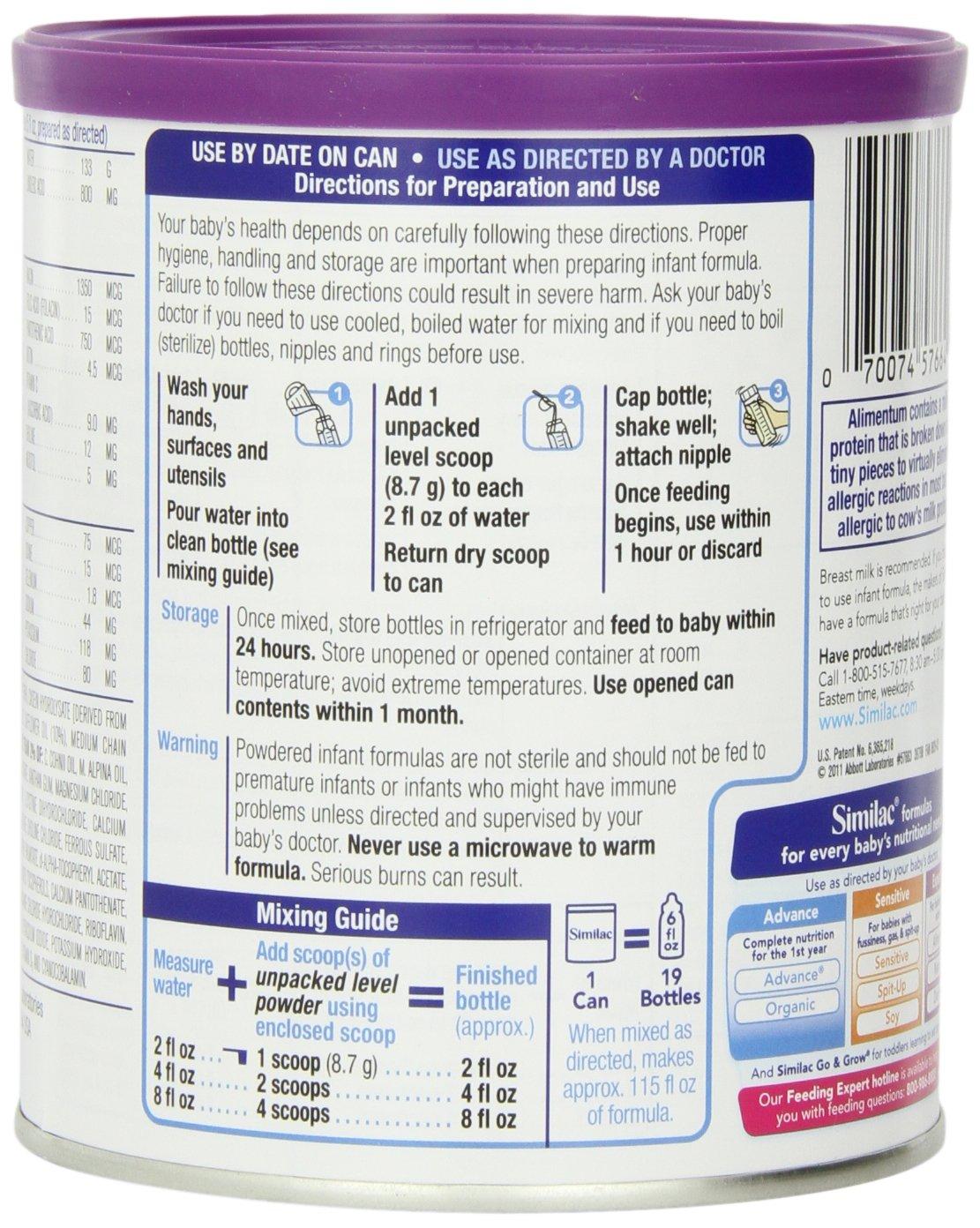 ... Infant Formula, Powder, With Iron, 1-Pound (454 g) (Pack of 6