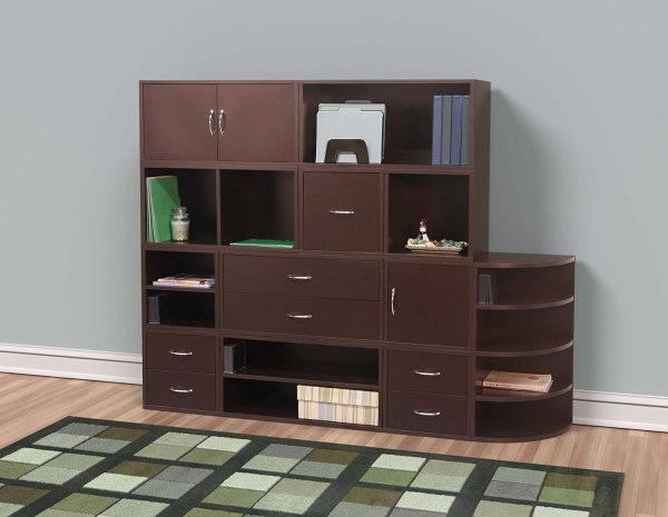 Foremost 327609 Modular Open Cube Storage System Espresso Free Shipping