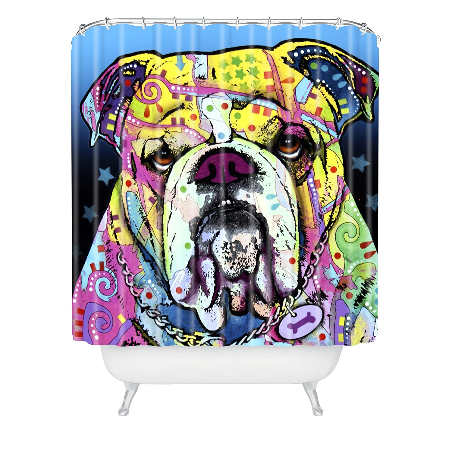 Dean Russo The Bulldog Shower Curtain