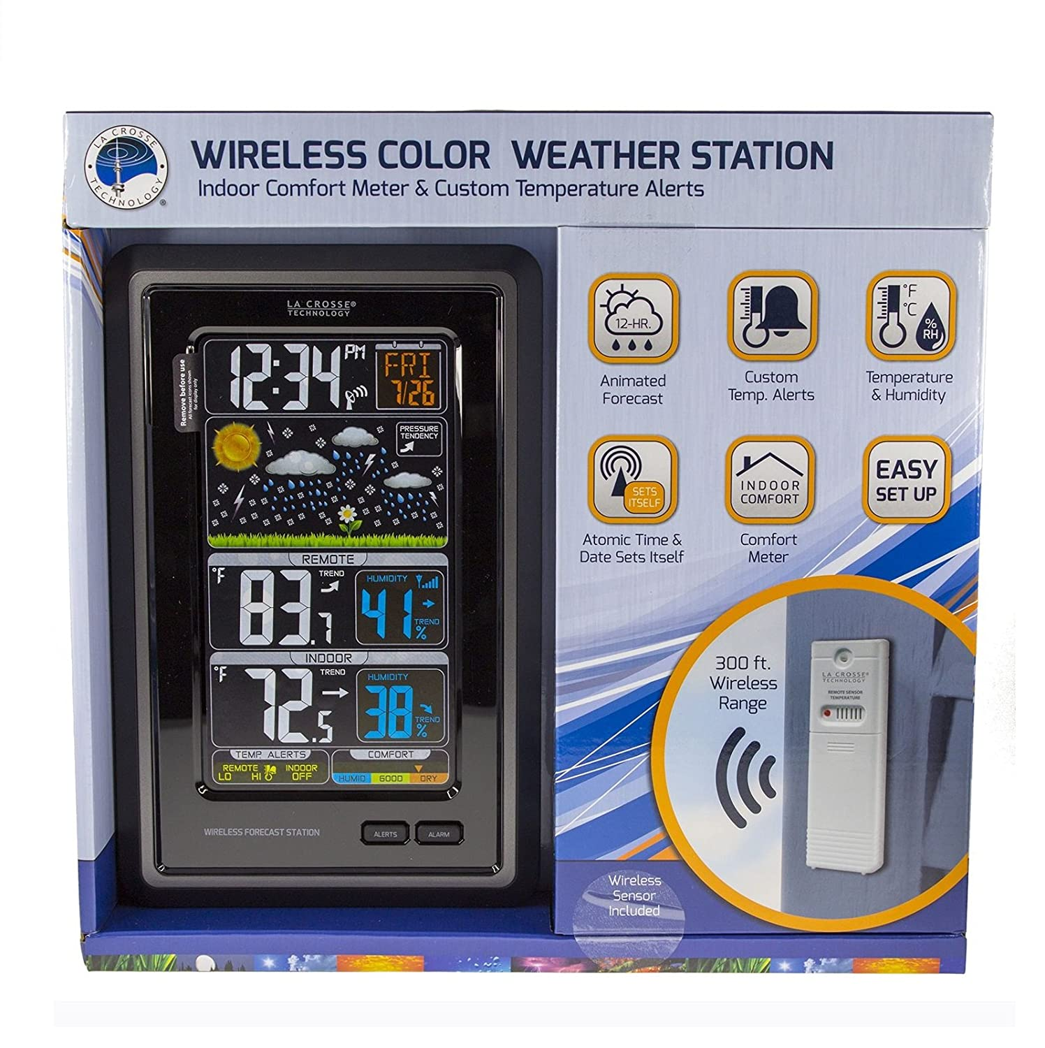 La Crosse Wireless Color Weather Station New Free Shipping