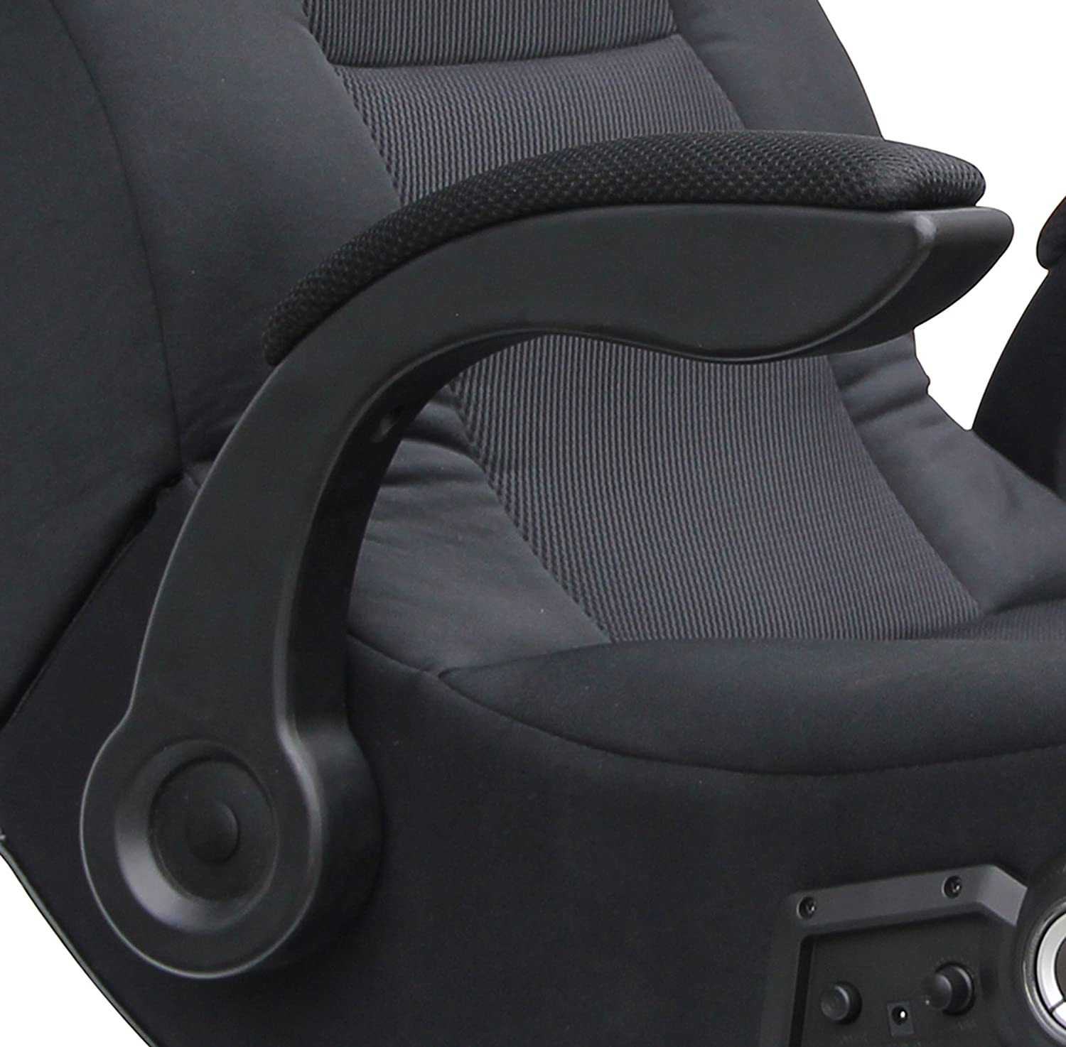 Game Chairs With Speakers New X Rocker 5142101 Commander 2 1 Audio Gaming Chair Ebay