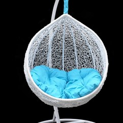 Hammock Chair Stand White Fabric Comfortable Garden Chairs: Hanging And Swing