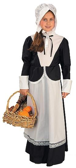 Forum Novelties Pilgrim Girl Costume, Child's Large