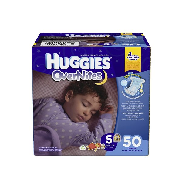 Huggies Overnites Diapers Size 5 50 Count
