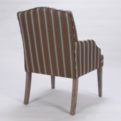 Fabrics For Chairs Striped Chair Bad Back Homelegance 2516a Accent Arm Stripe Fabric Set Of