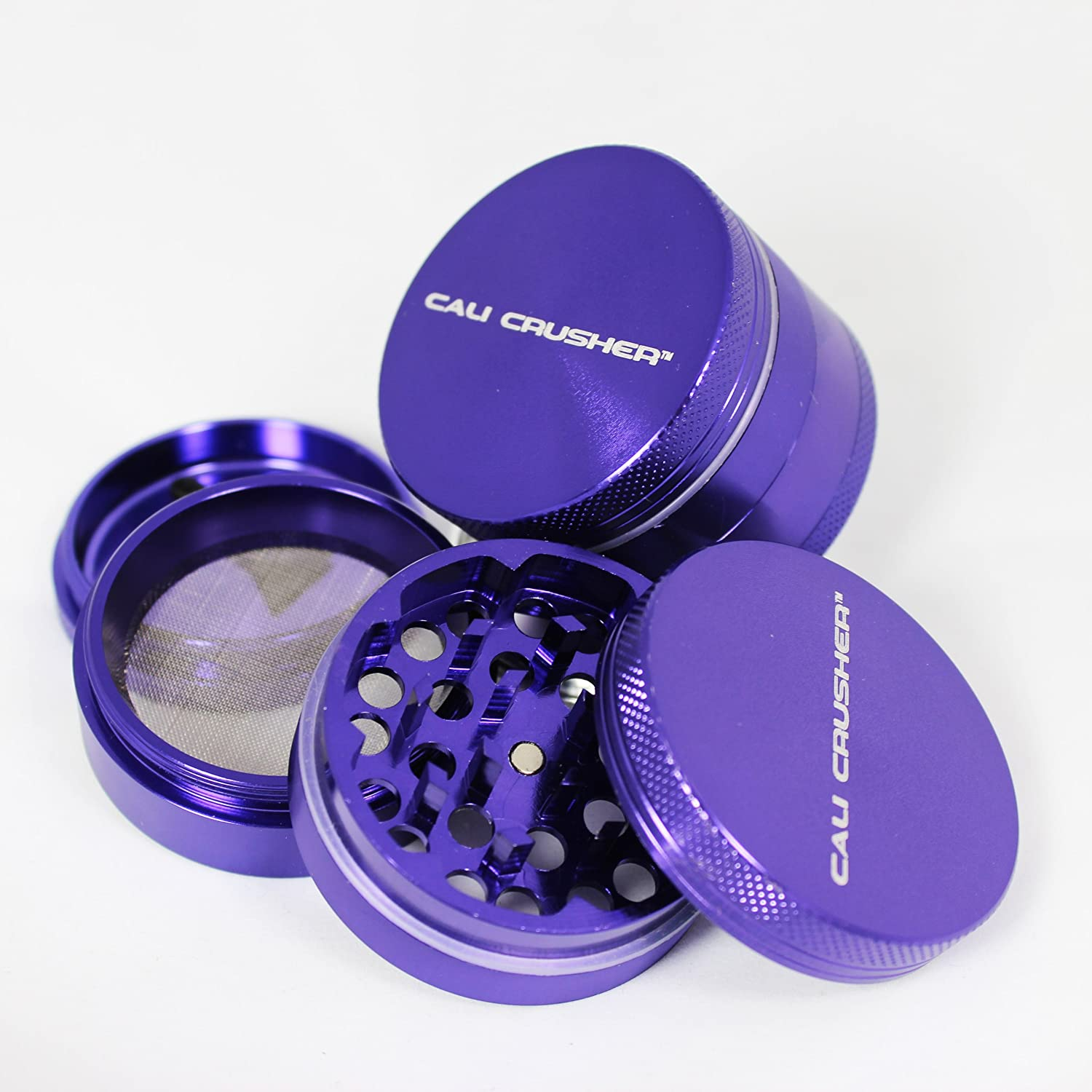 Cali Crusher 4 Piece Herb Grinder Purple
