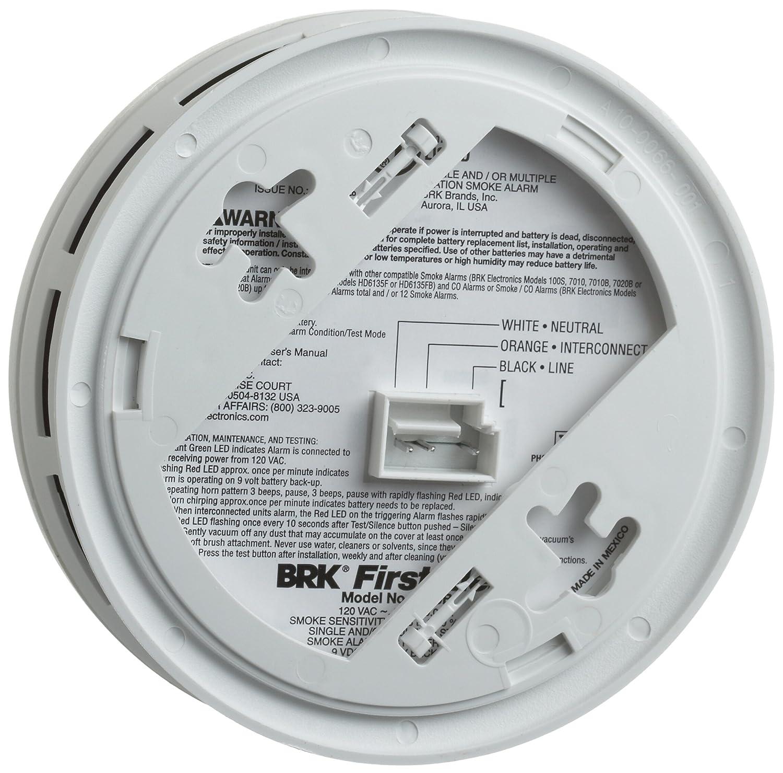 wiring diagram for interconnected smoke detectors castle worksheet brk brands 7020b hardwire photoelectric sensor alarm