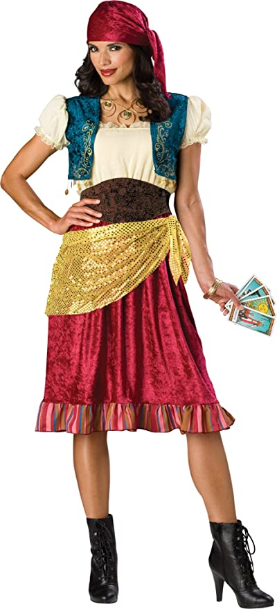 InCharacter Costumes, LLC Women's Gypsy Costume, Red/Gold/Brown, X-Large