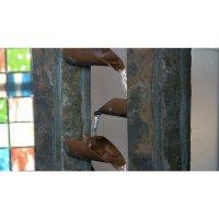 Kenroy Home Waterdrop Natural Slate Tabletop Fountain