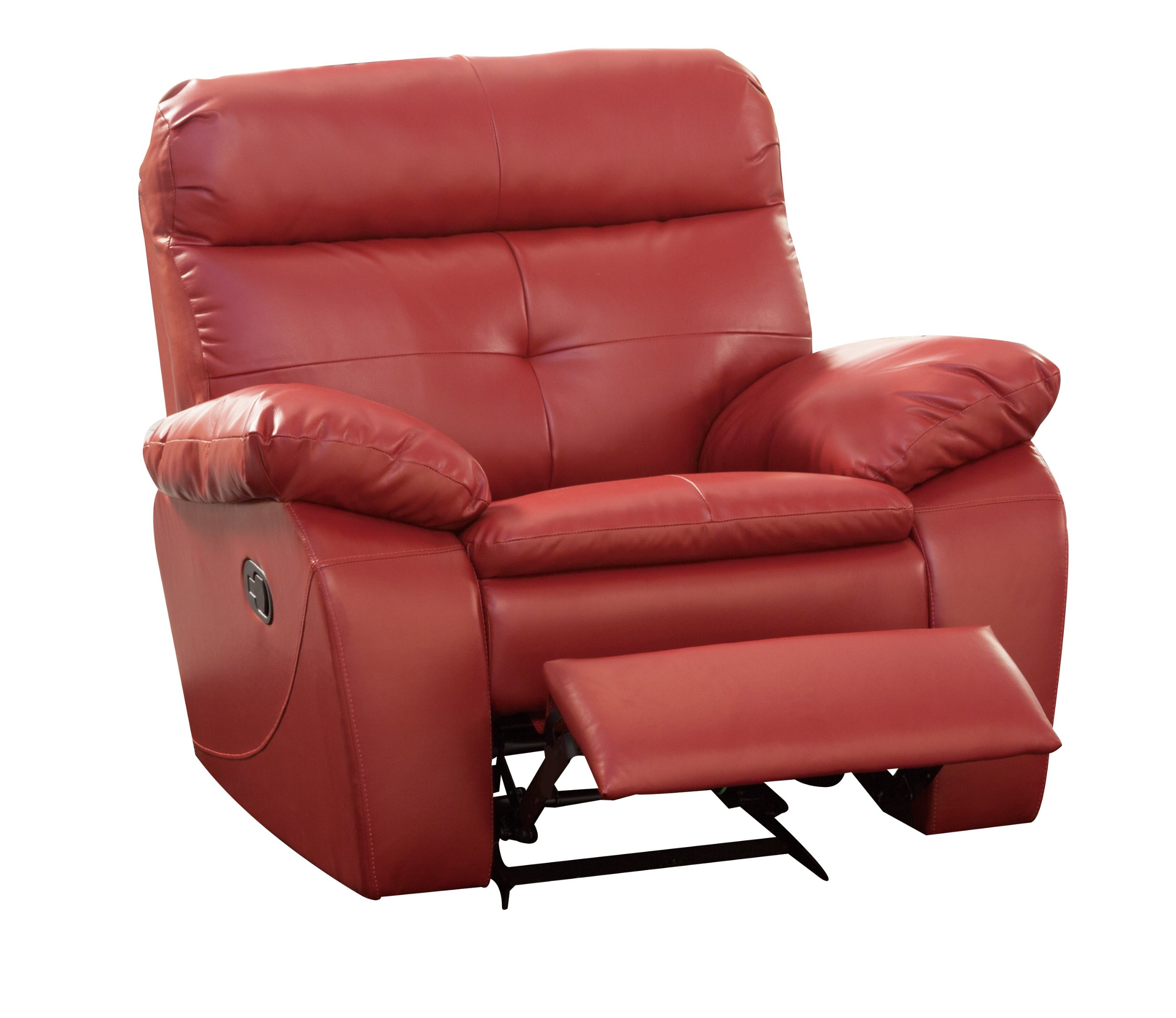 glider recliner chair big and tall mesh drafting homelegance 9604red 1 wallace lava