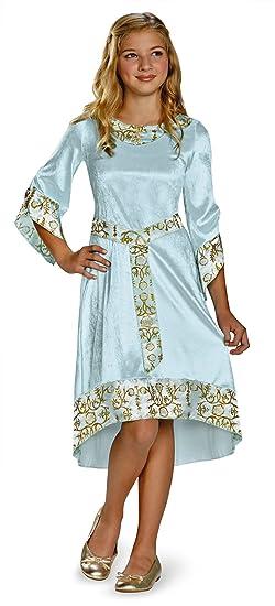 Disguise Disney Maleficent Movie Aurora Girls Blue Dress Classic Costume, Small/4-6x
