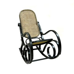 Bent Wood Rocking Chair How To Install Rail Molding With Wainscoting Carolina Cottage Antique Black Victoria Bentwood Rocker