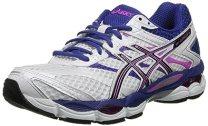 ASICS Women's Gel-Cumulus 16 Running Shoe,White/Black/Hot Pink,5.5 M US