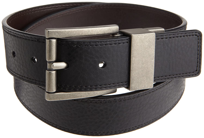 Dickies Mens 38mm Bridle Leather Reversible Belt