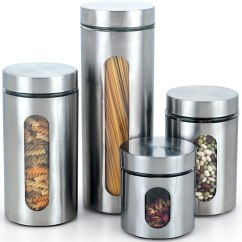 Kitchen Storage Canisters Cost Of A Remodel Stainless Steel Food  Fel7