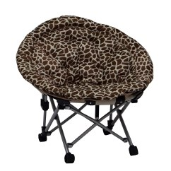 Moon Saucer Chair Upholstered Vanity Zebra Chairs With High Comfort And Fashion